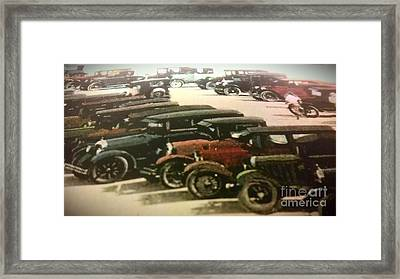 1920's Autos Framed Print