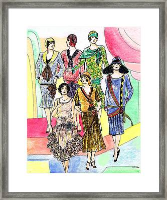 1920s Catalog Dresses Framed Print