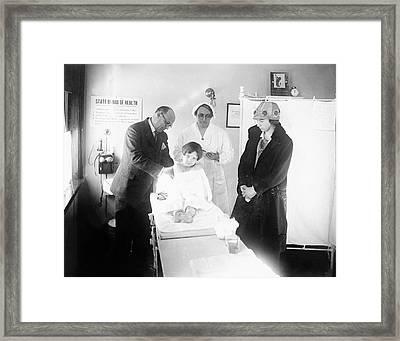 1920s Child Health Checkup Framed Print by Cdc