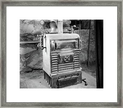 1920s Coal Burning Steam Water Boiler Framed Print