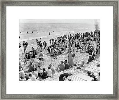 1920s Crowd Of People Some Fully Framed Print