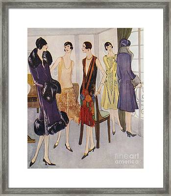 1920s Fashion  1925 1920s Uk Womens Framed Print by The Advertising Archives
