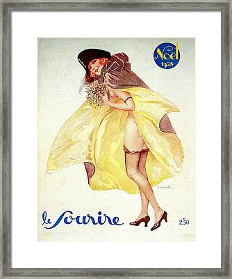 1920s France Le Sourire Magazine Cover Framed Print by The Advertising Archives