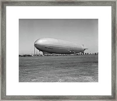 1920s German Rigid Airship Graf Framed Print