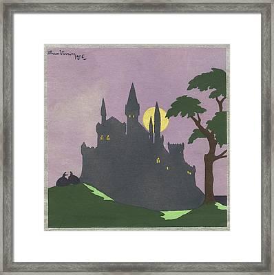 1920s Illustration Silhouette Gothic Framed Print