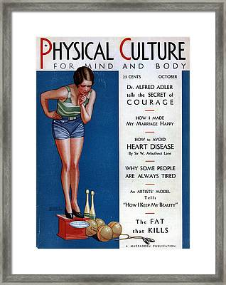 1920s Magazine Cover Poster Framed Print by Georgia Fowler