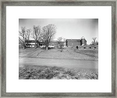 1920s Rural Farmhouse Farm Barn Framed Print