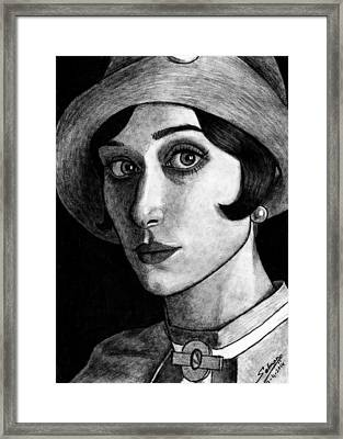 Elizabeth Debiki As Jordan Baker Framed Print by Salman Ravish
