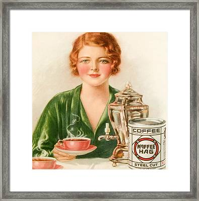 1920s Uk Kaffee Hag Magazine Advert Framed Print by The Advertising Archives