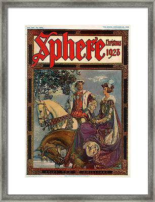 1920s Uk The Sphere Magazine Cover Framed Print