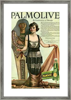 1920s Usa Palmolive Magazine Advert Framed Print