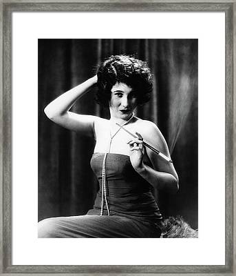 1920s Woman Wearing Strapless Gown Framed Print
