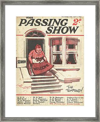 1920s,uk,the Passing Show,magazine Cover Framed Print