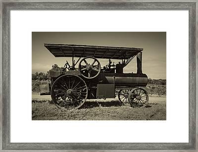 1921 Aultman Taylor Tractor Framed Print by Debra and Dave Vanderlaan