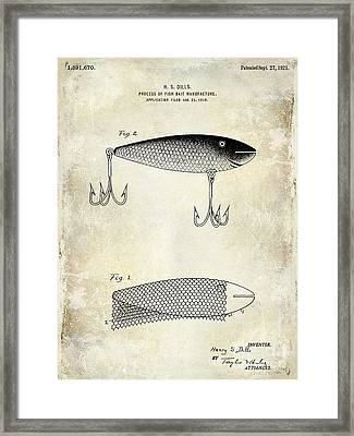 1921 Fish Bait Patent Drawing Framed Print