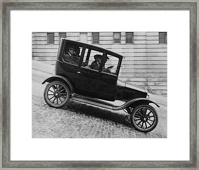 1921 Ford Model T Tudor Framed Print by Underwood Archives