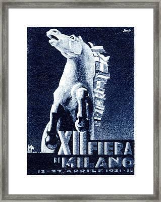1921 Italian Film Festival Framed Print by Historic Image