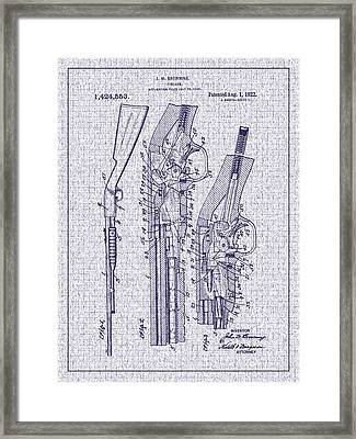 1922 Browning Firearm Patent Framed Print by Barry Jones