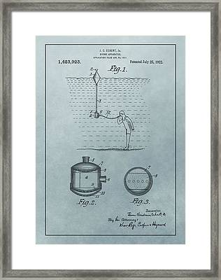 1922 Diving Apparatus Patent Illustration Framed Print by Dan Sproul