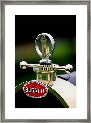 1923 Bugatti Type 23 Brescia Lavocat Et Marsaud Hood Ornament Framed Print
