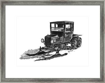 1923 Ford Model T Snowmobile Framed Print