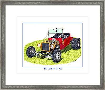 T Bucket Ford 1923 Framed Print by Jack Pumphrey