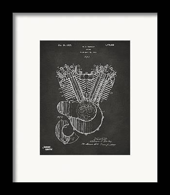 Harley Davidson Patent Framed Prints