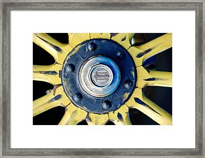 1923 Locomobile Model 48 Sportif Wheel Emblem Framed Print