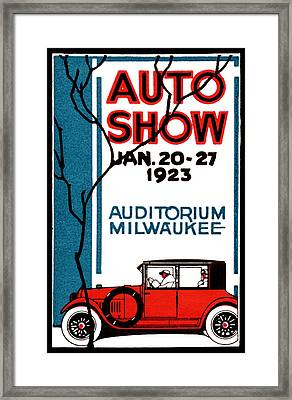 1923 Milwaukee Auto Show Framed Print by Historic Image