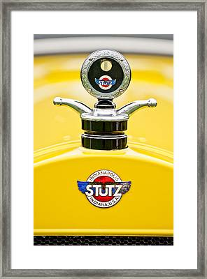 1923 Stutz Kldh Bearcat Hood Ornament Framed Print by Jill Reger