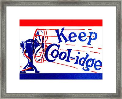 1924  Keep Coolidge Poster Framed Print by Historic Image