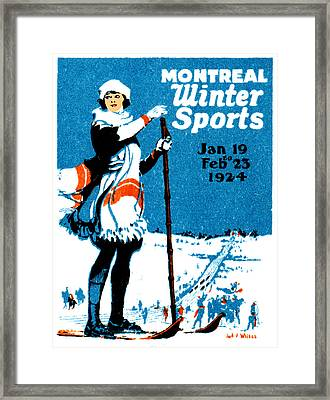 1924 Montreal Winter Sports Poster Framed Print