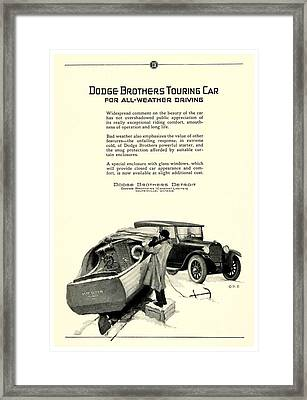 1925 - Dodge Brothers Touring Car Convertible Automobile Advertisement Framed Print