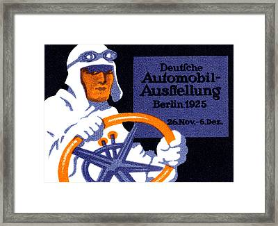 1925 Berlin Car Show Framed Print by Historic Image