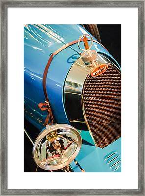 1925 Bugatti Type 35 Grand Prix Grille Emblem - Hood Ornament Framed Print by Jill Reger