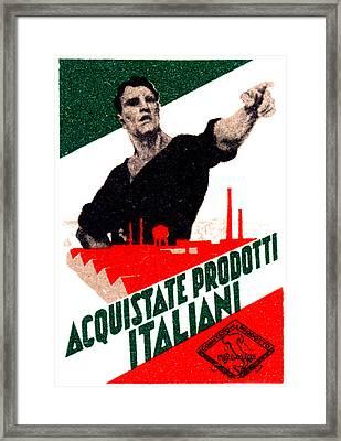 1925 Buy Italian Goods Framed Print by Historic Image
