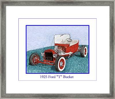 1925 Ford Hot Rod T-bucket Framed Print by Jack Pumphrey