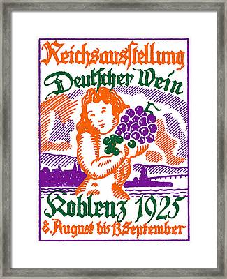 1925 German Wine Fair Framed Print