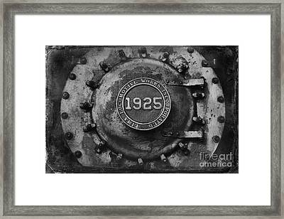 1925 Locomotive Train Engine Framed Print by Carrie Cranwill