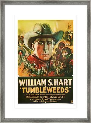 1925 Tumbleweeds Vintage Movie Art Framed Print