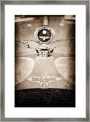 1926 Duesenberg Model A Boyce Motometer - Hood Ornament Framed Print by Jill Reger