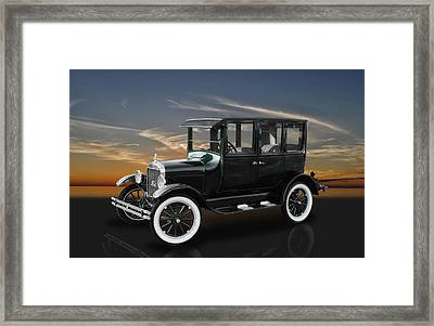 1926 Ford Fordor Sedan Model T Framed Print by Frank J Benz