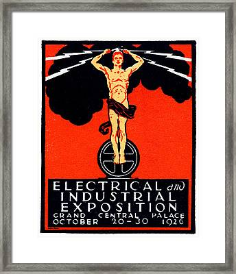 1926 New York City Electrical Industrial Exposition Framed Print by Historic Image