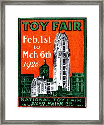 1926 New York City Toy Fair Poster Framed Print