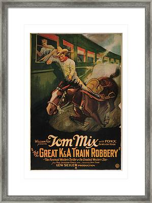 1926 The Great Train Robbery Movie Art Framed Print