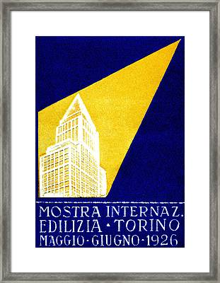 1926 Turin Italy Architecture Exposition Framed Print by Historic Image
