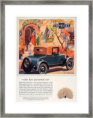 1927 - Chevrolet Advertisement - Color Framed Print
