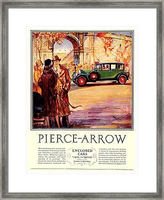 1927 - Pierce Arrow Automobile Advertisement - Color Framed Print by John Madison