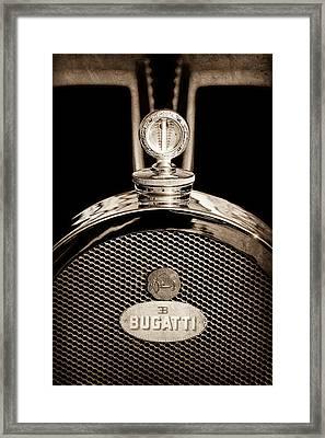 1927 Bugatti Replica Hood Ornament - Emblem Framed Print by Jill Reger
