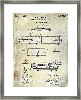 1927 Fish And Fowl Cleaning Device Patent Framed Print